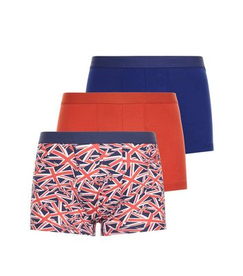3 Pack Multi Coloured Union Jack Trunks