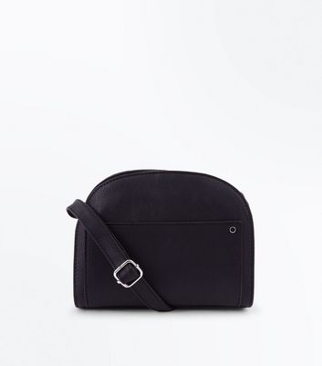 Black Half Circle Cross Body Bag