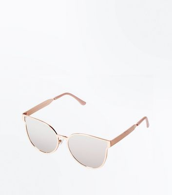 Rose Gold Metal Frame Sunglasses