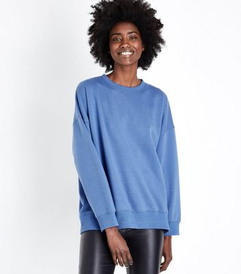 Bright Blue Balloon Sleeve Sweatshirt