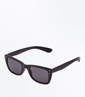 Black Short Frame Small Sunglasses
