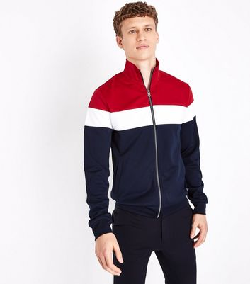 Red Colour Block Track Top