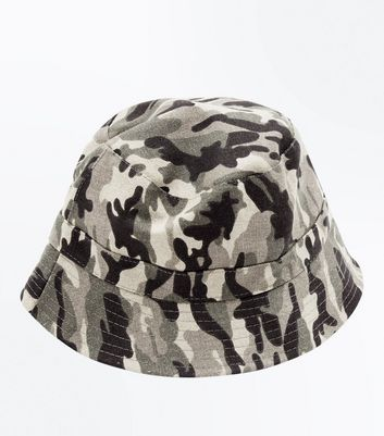 Green Camo Reversible Bucket Hat