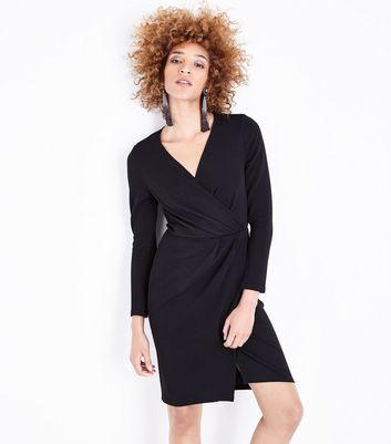 Wrap Front Short Chiffon Dresses