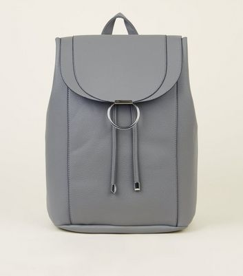 Grey Ring Front Backpack