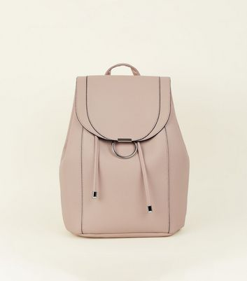 cream-ring-front-backpack by new-look