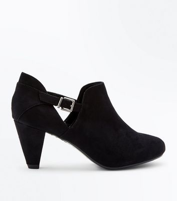 girls-black-cone-heel-shoe-boots by new-look