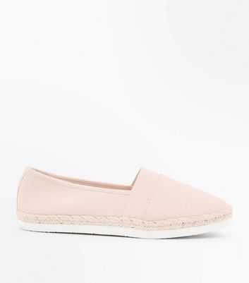 Wide Fit Nude Canvas Espadrilles
