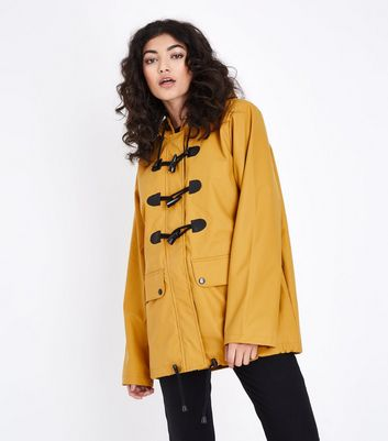 Mustard Yellow Toggle Front Anorak