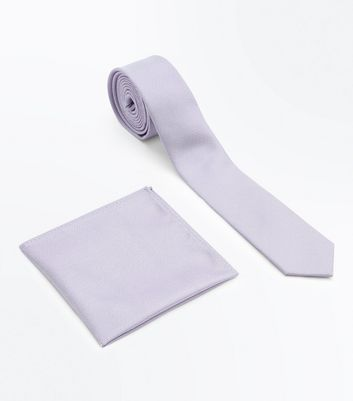 Lilac Tie and Pocket Square Set