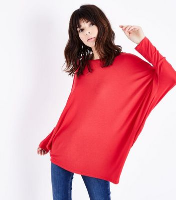 QED Red Batwing Top