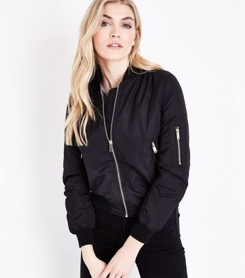QED Black Bomber Jacket