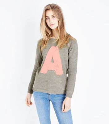 Lulua London Grey Faux Fur A Applique Jumper