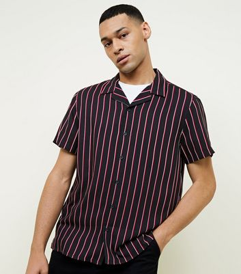 Red and White Vertical Pinstripe Shirt