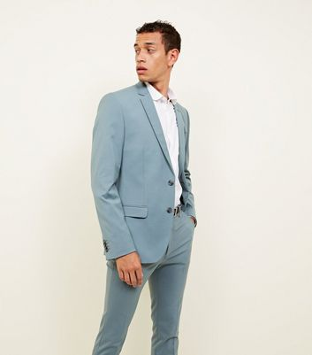 Green Stretch Suit Blazer