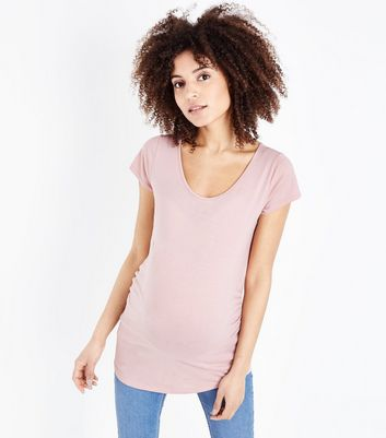 Maternity Mid Pink Short Sleeve T-Shirt