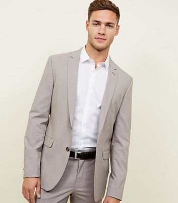 Grey and Mid Brown Houndstooth Check Blazer