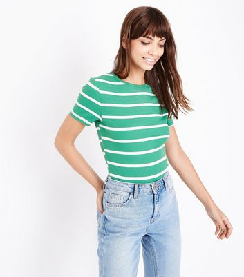 Tall Green Stripe Short Sleeve T-Shirt