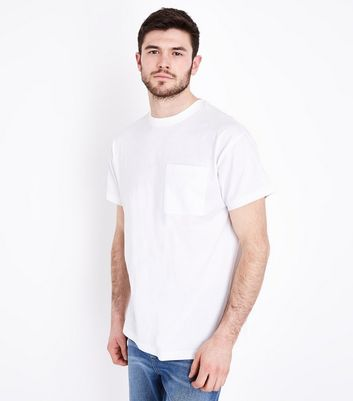 White Oversized Pocket T-Shirt