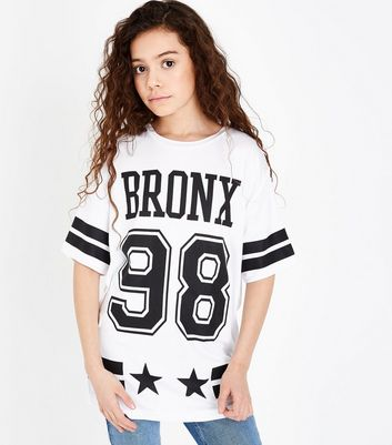 Teens White Bronx 98 Oversized T-Shirt