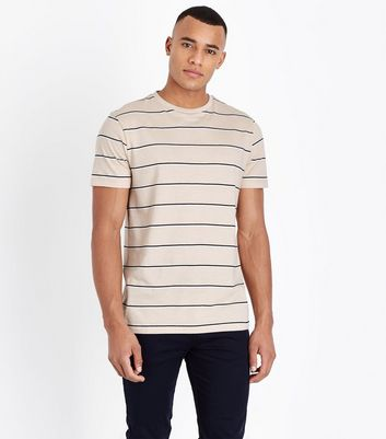 Stone Double Stripe T-Shirt