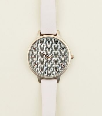 Light Purple Mermaid Scale Dial Watch