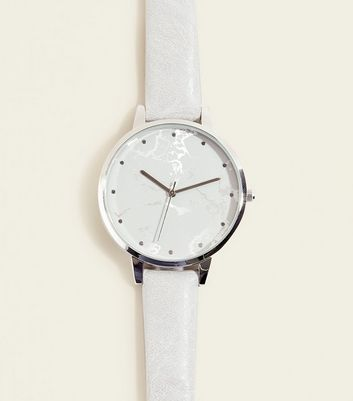 Grey Marble Effect Dial Watch