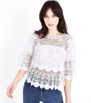 Pay With Visa Cheap Online Cheap Sale Footaction Womens Iris Crochet Blouse New Look Cheapest For Sale AwRrG4xs