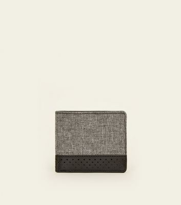 Grey Perforated Wallet