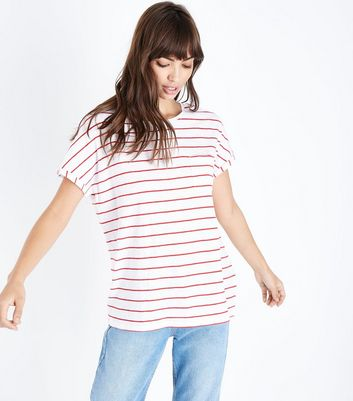 Tall Red Stripe Organic Cotton T-Shirt