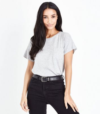 Tall Grey Organic Cotton Pocket Front T-Shirt
