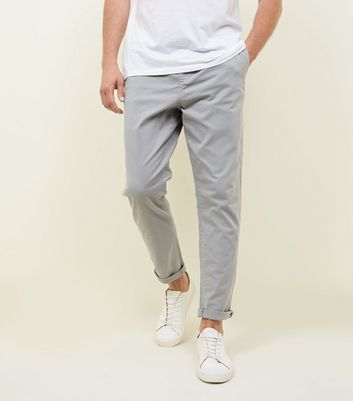 Pale Grey Drawstring Trousers