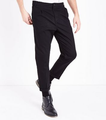 Black Pleated Front Trousers