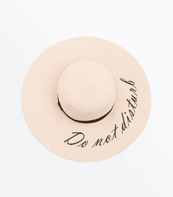 Pink Do Not Disturb Slogan Floppy Hat