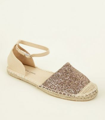 Wide fit gold glitter espadrille professional cheap online cheap free shipping clearance really for sale the cheapest buy cheap best seller w6SmMnY