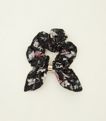 Black Bow Tail Scrunchie