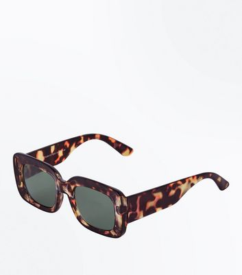 Green Tortoiseshell Small Sunglasses