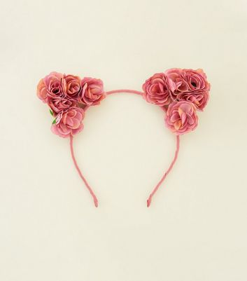 Pink Roses Cat Ears