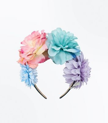 Multi Coloured Floral Headband