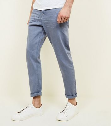 Bright Blue Tapered Jeans