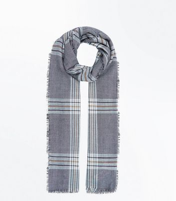 Grey Prince Of Wales Check Scarf