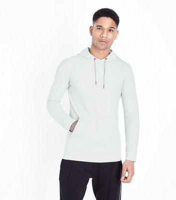 Pale Grey Muscle Fit Hoodie