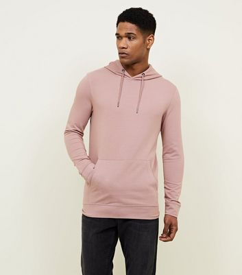 Muscle Fit - Sweat à capuche rose profond
