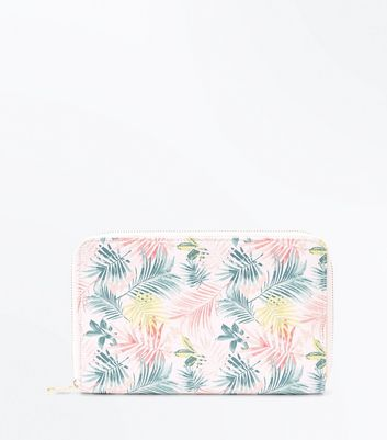 Multi Coloured Tropical Floral Travel Wallet