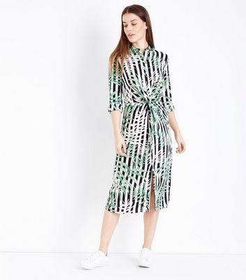Gingham print shirt dress images