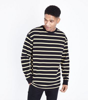 Pale Yellow Stripe Long Sleeve T-Shirt