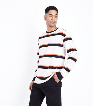White Wide Stripe Long Sleeve T-Shirt