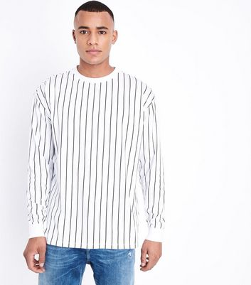 White Stripe Long Sleeve T-Shirt