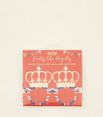 Ginger Ray Navy Union Jack Foiled Fun Glasses