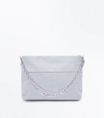 Dark Grey Chain Shoulder Bag by New Look